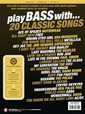 Play Bass With 20 Classic Songs: Bass Guitar