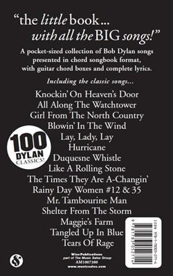 Bob Dylan: The Little Black Songbook: Bob Dylan: Melody, Lyrics & Chords