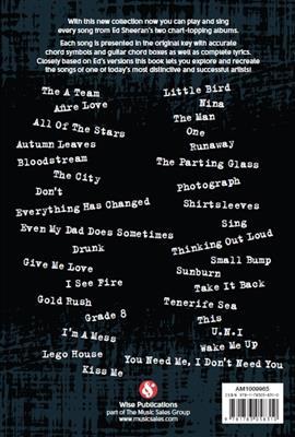 Ed Sheeran: Ed Sheeran: Guitar Chord Songbook: Guitar