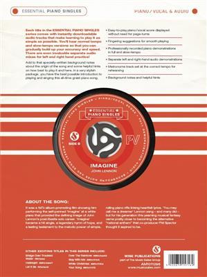 John Lennon: Essential Piano Singles: Imagine: Piano, Vocal, Guitar