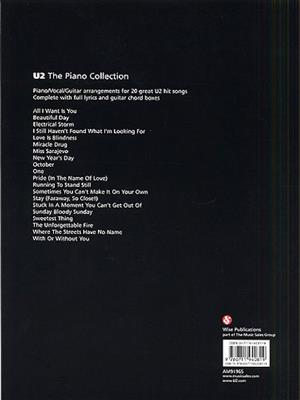 U2: The Piano Collection: Piano, Vocal, Guitar