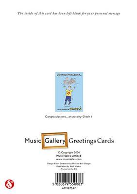 Music Gallery Congratulations Card - Grade 1 (Boy)