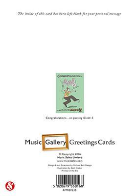 Music Gallery: Congratulations Card-Grade 5 (Boy)