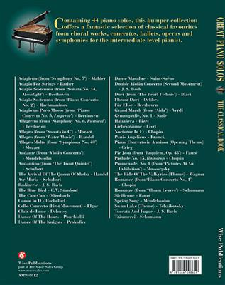 Great Piano Solos - The Classical Book: Piano