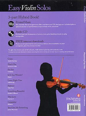 Easy Violin Solos: Playalong Pop Hits: Violin