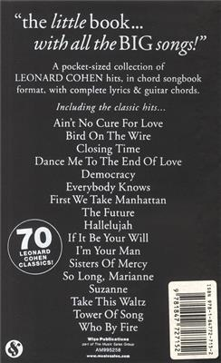 Leonard Cohen: The Little Black Songbook: Leonard Cohen: Vocal