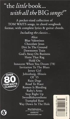 Tom Waits: The Little Black Songbook: Tom Waits: Melodyline, Lyrics and Chords