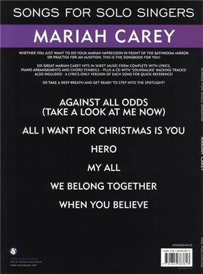 Mariah Carey: Songs For Solo Singers: Piano, Vocal, Guitar