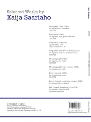 Kaija Saariaho: Lonh For Soprano And Electronics Score: Soprano