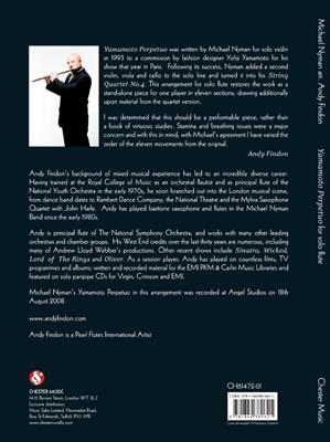 Michael Nyman: Yamamoto Perpetuo (Flute): Arr. (Andy Findon): Flute