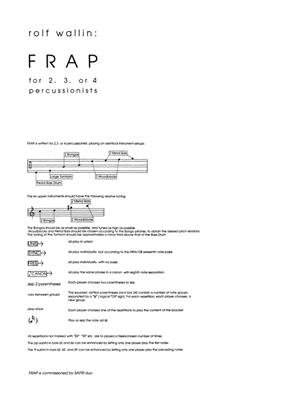 Rolf Wallin: Frap: Percussion