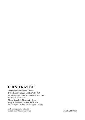 Simon Holt: 4 Quarters: String Ensemble