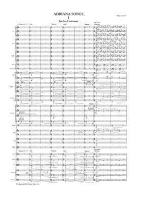 Kaija Saariaho: Adriana Songs (Full Score): Orchestra