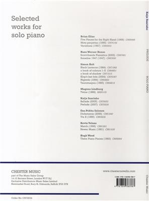 Kaija Saariaho: Prelude For Solo Piano: Piano or Keyboard