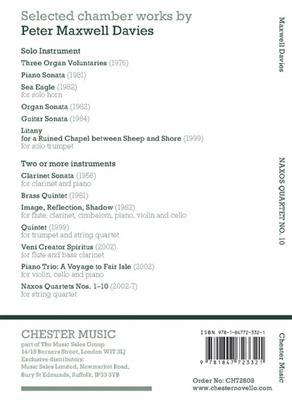 Peter Maxwell Davies: Naxos Quartet No.10 (Miniature Score): String Ensemble