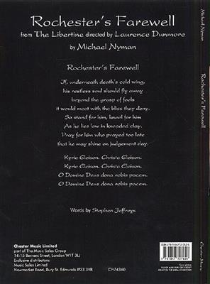 Michael Nyman: Rochester'S Farewell (Liber): Voice