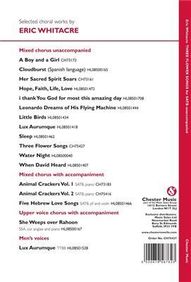 Eric Whitacre: Three Flower Songs: Mixed Choir