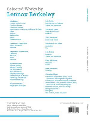 Lennox Berkeley: Suite For The Harpsichord: Harpsichord