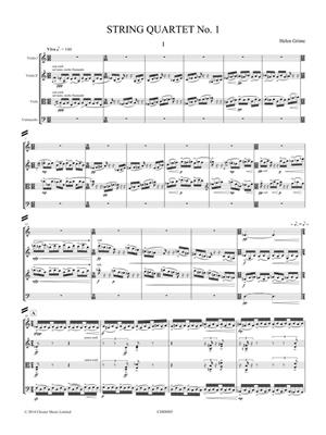 Helen Grime: String Quartet No.1 Score: String Quartet