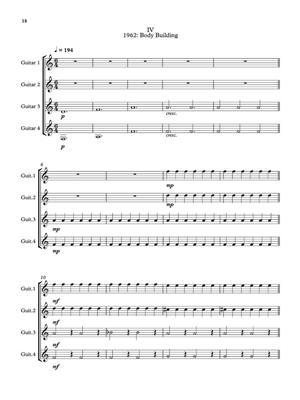 Philip Glass: String Quartet No.3 Mishima: Arr. (Dave Flynn): Guitar Ensemble