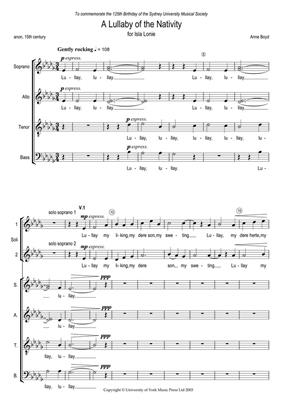Anne Boyd: A Lullaby Of The Nativity: SATB