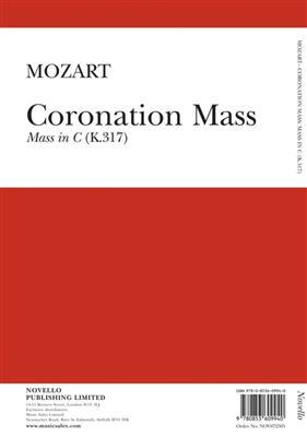 Wolfgang Amadeus Mozart: Coronation Mass Mass In C K.317: SATB