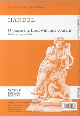 Georg Friedrich Händel: O Praise The Lord With One Consent: SATB