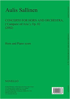 Aulis Sallinen: Horn Concerto (Horn/Piano Reduction): French Horn