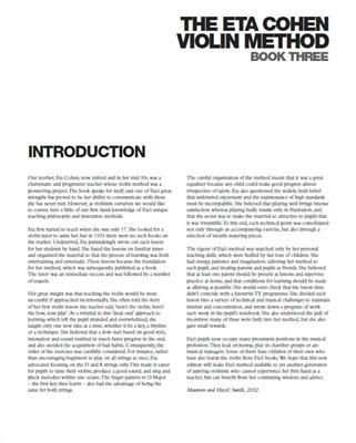 The Eta Cohen Violin Method: Book 3: Violin