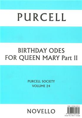 Purcell Society Volume 24: Mixed Choir