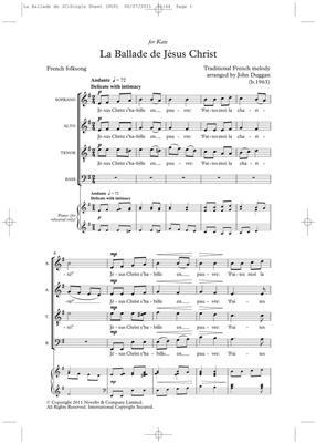 John Duggan: La Ballade De Jesus Christ: SATB