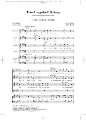 Matyas Seiber: Three Hungarian Folk-Songs (New Engraving): SATB