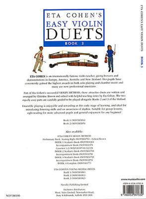 Eta Cohen's Easy Violin Duets Book 3: String Ensemble
