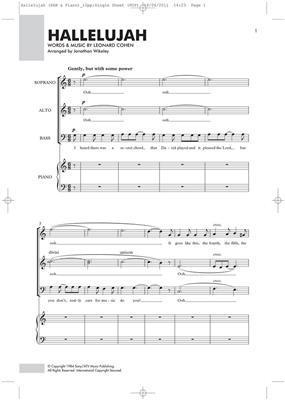Alexandra Burke: Hallelujah: Mixed Choir