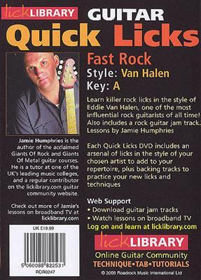 Quick Licks - Van Halen Fast Rock (DVD)