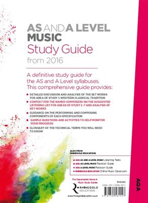 Rhinegold Education: AQA AS And A Level Music Study Guide