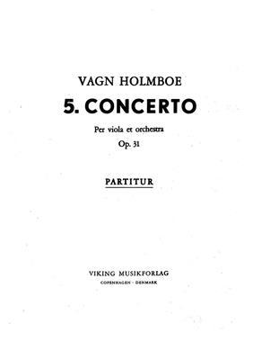 Vagn Holmboe: Concerto No.5 Op.31: Viola