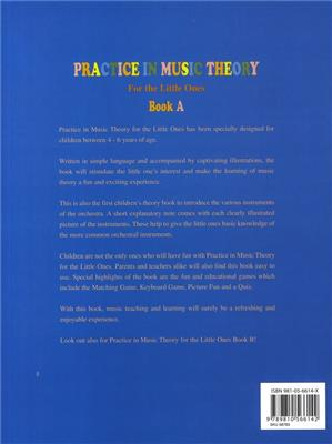 Practice In Music Theory For The Little Ones-Bk A