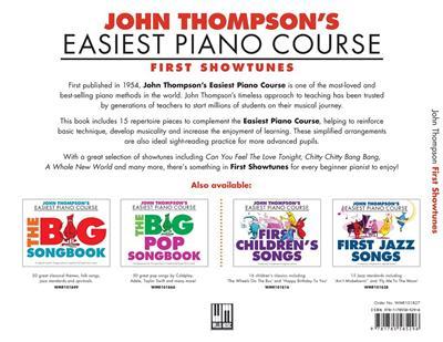 Thompson's Easiest Piano Course: First Showtunes: Piano or Keyboard