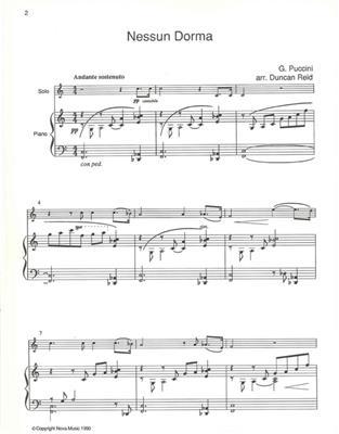 Giacomo Puccini: Nessun Dorma: Violin