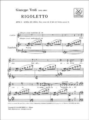 Giuseppe Verdi: Rigoletto: Caro Nome Che Il Mio Cor: Opera