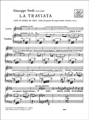 Giuseppe Verdi: La Traviata: Addio, Del Passato: Opera