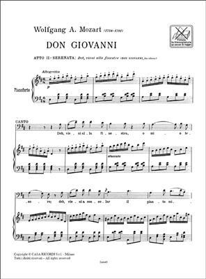 Wolfgang Amadeus Mozart: Deh, Vieni Alla Finestra: Opera
