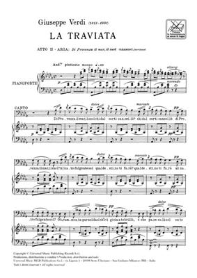 Giuseppe Verdi: La Traviata: Di Provenza Il Mar Il Suol: Opera