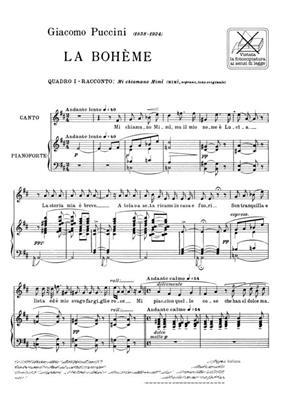 Giacomo Puccini: La Boheme: Mi Chiamano Mimi': Opera