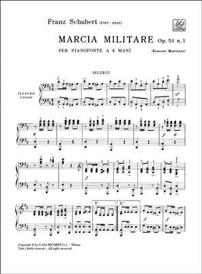 Franz Schubert: 3 Marce Militari Op. 51 D 733: N. 1: Piano Duet