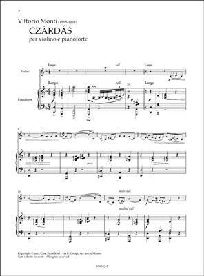 Vittorio Monti: Czardas: Violin