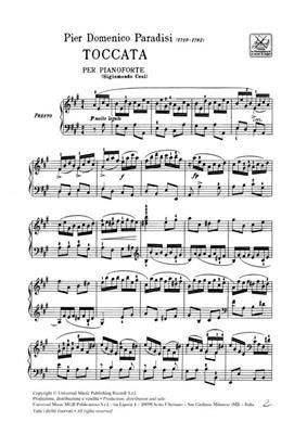 Pietro Domenico Paradisi: Toccata: Piano