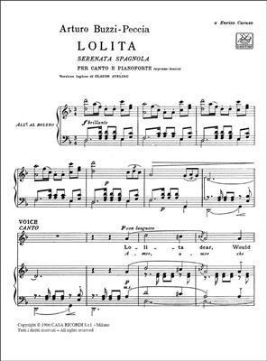 Buzzi-Peccia: Lolita: Vocal