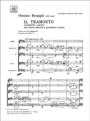 Ottorino Respighi: Il Tramonto. Poemetto Lirico: Mezzo-Soprano
